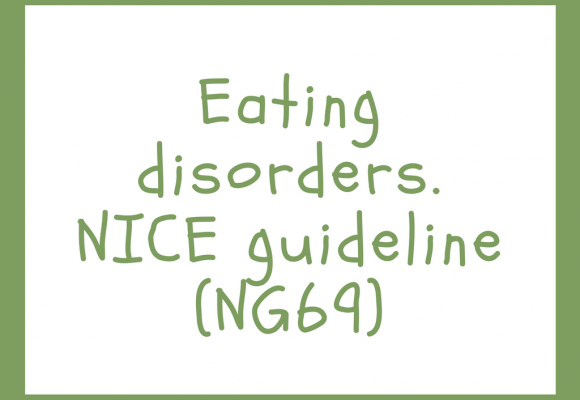 Eating disorders. NICE guideline (NG69)