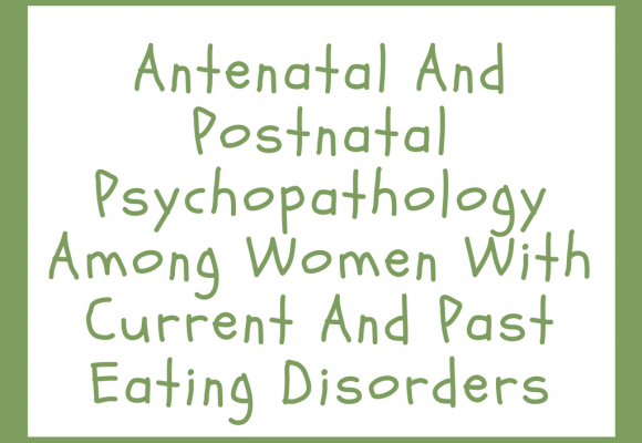 Antenatal And Postnatal Psychopathology Among Women With Current And Past Eating Disorders